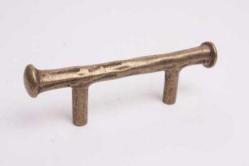 Keukengreep en meubelgreep brons antiek boormaat 64mm brut