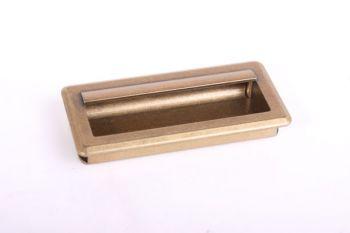 Greep infrees brons antiek 96mm (107x51mm)