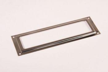 Etikettenhouder nikkel 39x120mm