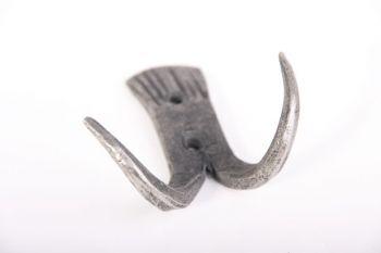 Kapstokhaak antiek grijs 65mm