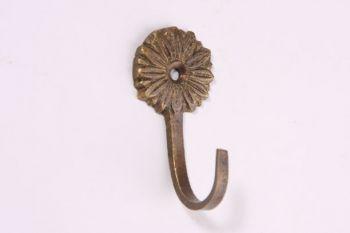 Kapstokhaakje 52mm brons antiek bloem