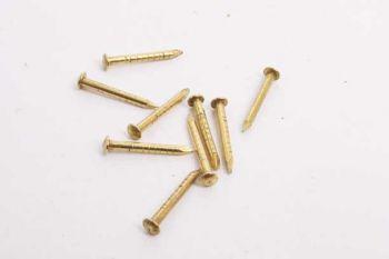 Nagels messing massief bolkop 1.5 x 15mm per 200 gram