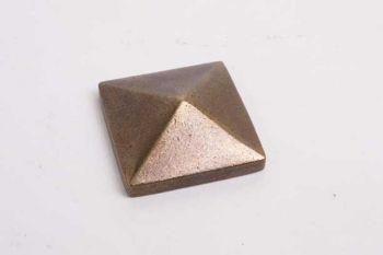 Vierkante siernagel kop met M4 schroefdraad brons antiek 25mm