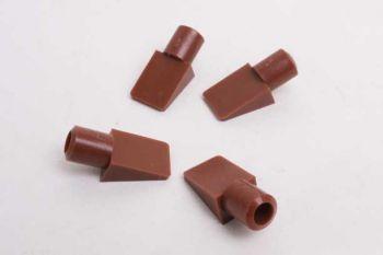 Plankdrager wit of bruin plastic 23mm per 20 stuks