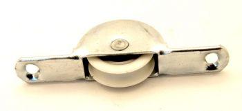 Wieltje 76mm kunststof loopvlak 1234 met groef