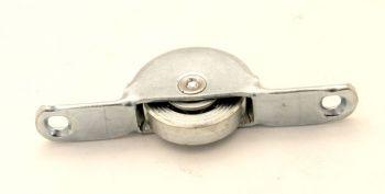 Wieltje 55mm metaal loopvlak voor onder een meubel schuifdeur
