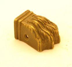 Leeuwenpootje sier klein brons antiek 38mm