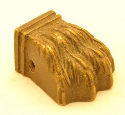 Leeuwenpootje meubelvoetje brons antiek 43mm