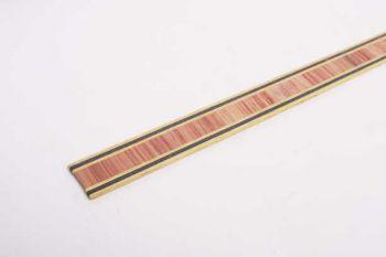 Fineer strip hout met zigzag patroon voor marquetrie 13mm