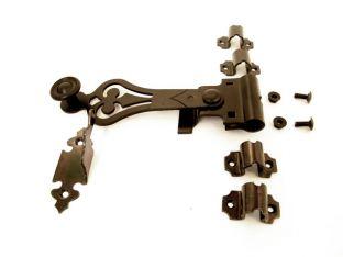 Draaiespagnoletsluiting voor luiken zwart inclusief stang 2500mm