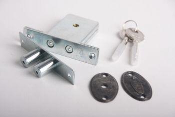 Insteekbijzetslot gelijksluitend SKG** zilver antiek per 2 stuks