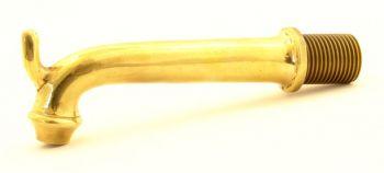 Kraanuitloop brons antiek 21mm draad (1/2)
