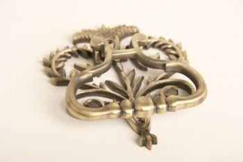 Deurklopper brons antiek hartvorm