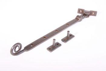 Raamuitzetter GESMEED met krul Roest of tinkleur 290mm - 8,5mm
