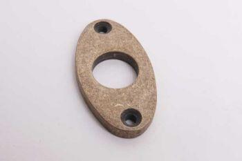Sleutelrozet klassiek ovaal brons antiek 25mm
