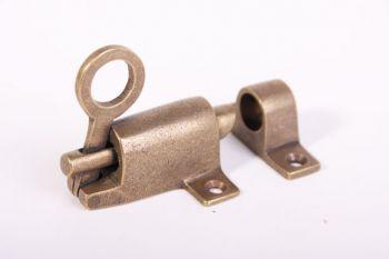 Raamknip voor valraam brons antiek 67mm