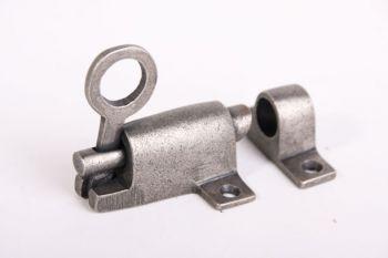 Raamknip voor valraam zilver antiek 67mm