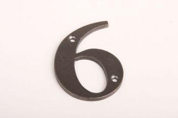 Huisnummer roest, tinkleur of zwart cijfers 0-9 80mm