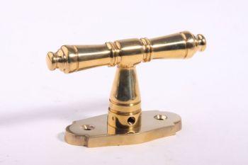 Raamkruk T-vorm 92mm brons antiek 7mm pen