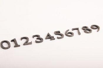 Cijfers/huisnummers zilver antiek 0-9 40mm zs