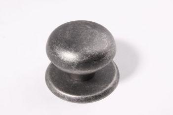 Deurknop antiek grijs rond 80mm