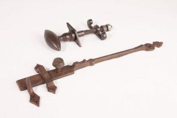 Klinkstel staldeur roest of zwart 300mm set stalsluiting met wervel