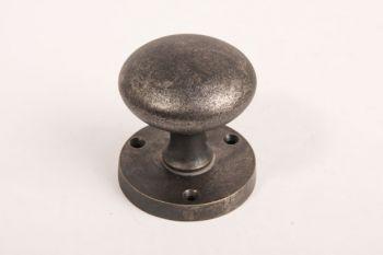 Deurknop (paar) antiek zilver/grijs 54mm
