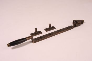 Raamuitzetter draairaam ton-model brons antiek ebbenhout 33cm