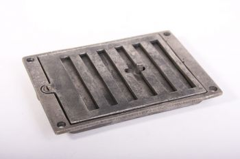 Afsluitbaar rooster antiek grijs 121 x 174 mm