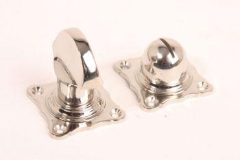 WC sluiting blinkend nikkel platte knop
