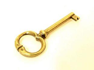 Klassieke sleutel brons antiek gat 42mm