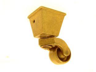 Wieltje antiek brons vierkant 32mm/68mm.