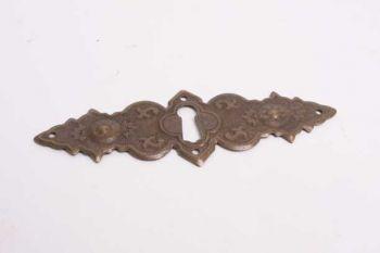 Klassieke sleutelplaat dwars latoenkoper in brons antiek 35mm