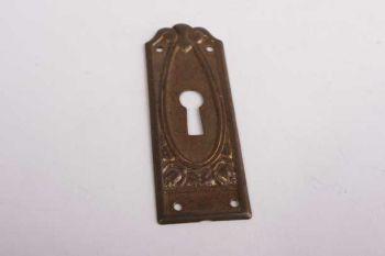 Sleutelplaatje dun voor kastdeurtje brons antiek verticaal 70mm