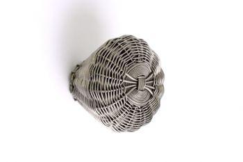 Geweven knop antiek zilver fijne draad 44mm