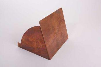 Klep voor kistje of display met uitgifteopening van rood koper 20 x 17cm