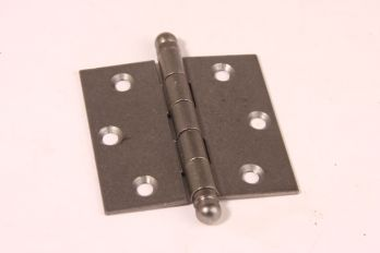 Scharnier metaal grijze tinkleur 76mm x 76mm met bolkop