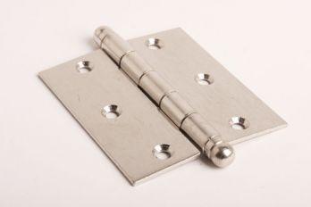 Scharnier geborsteld nikkel 89x101mm  met bolkop
