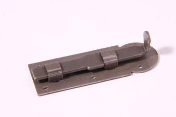 Schuifje blank ijzer voor meubelen 80mm recht