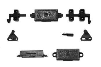 Espagnoletslot met onderdelen en stangen 15-30mm brons antiek zs