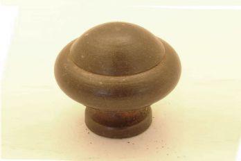 Knop voor keuken of meubel gietijzer roest of tinkleur rond 30mm