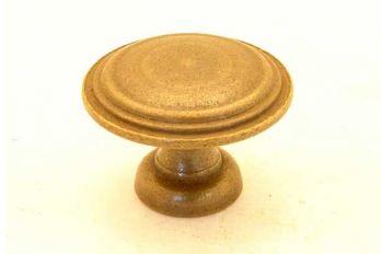 Knop rond met randje brons antiek 30mm