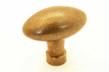 Knop ovaal Brons antiek 51mm eiknop