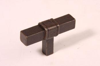 Knop vierkant roest - gietijzeren T-knop van 63mm