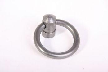 Ringgreep metaal grijs (tinkleur) 36mm diameter 5mm dik