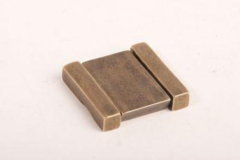 Greep brons antiek 40mm trekker opschroefbaar