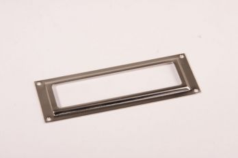 Etikettenhouder nikkel 30x80mm