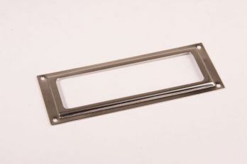 Etikettenhouder nikkel 39x100mm