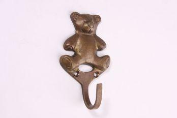 Kapstokhaak brons antiek 85mm beertje