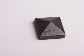 Siernagel vierkant met schroefdraad 25mm roest, zwart of tinkleur